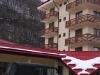 фасад в зимнее время